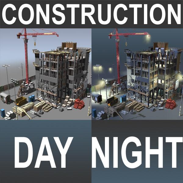 maya construction night day