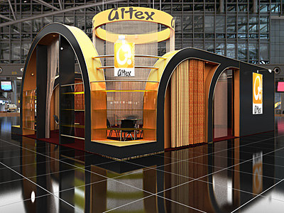 display booth 09 3d model