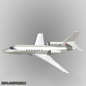 dassault falcon 50 global 3d model