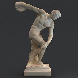 3d greek statue male model