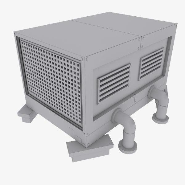 rooftop cooling 3d model
