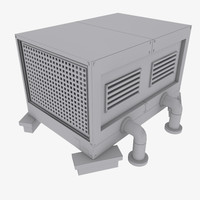 rooftop cooling 3d model
