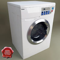 haier washer dryer combo 3d model