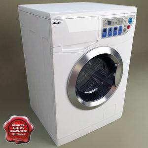 haier washer dryer combo 3d model