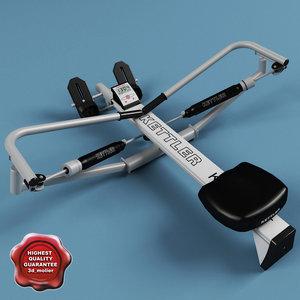 3d model kettler rowing machine