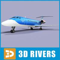gulfstream g500 jets 3d max