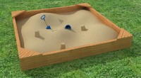 Kids Sand Box with Bucket & Spade