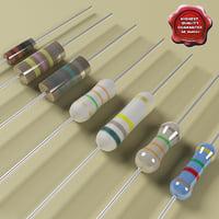 resistors modelled 3d obj