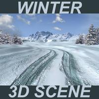 Winter 3D Scene