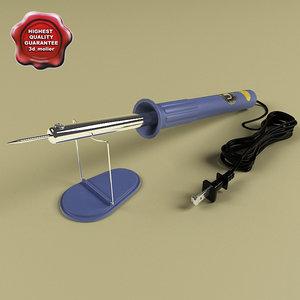 3d model soldering iron