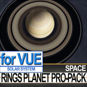 rings planet jupiter space 3d vue