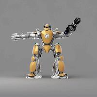hi tech robot 3d max