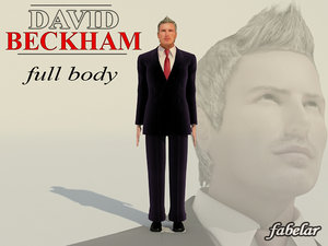 3d model photorealistic david beckham body