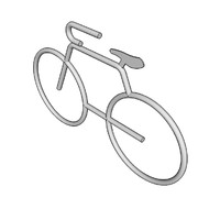 free bicycle bike rack 3d model