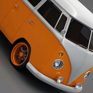 bus vintage t1 3d model