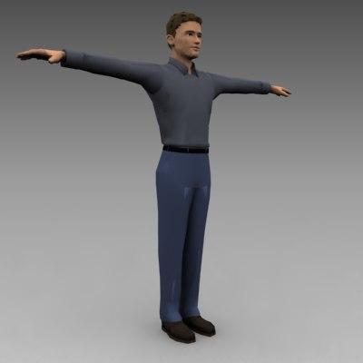 3d model character male