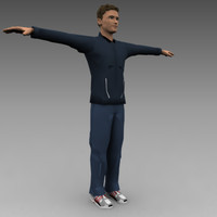 male casual 3d model