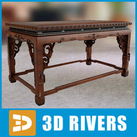 3d chinese table furniture model