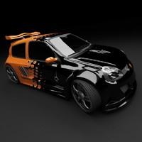 renault clio gt 3d model