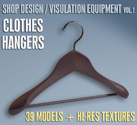 CLOTHES HANGERS - Shop Design / Visulation Equipment Vol.1  |  39+ Clothes Hanger Models