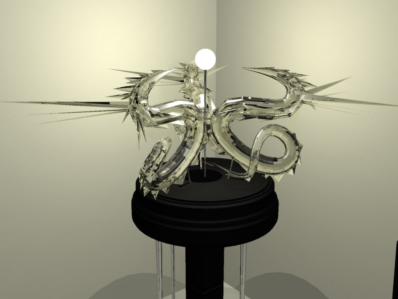 3d dragon lamp