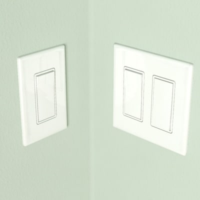 scale light switch combo 3d model