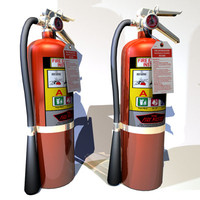 3d model of extinguisher home 02 flame