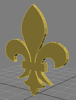 3d fleur lis symbol model