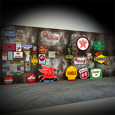 3d garage wall signs 01