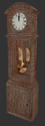 free grandfather clock 3d model
