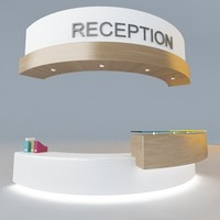 Modern Office Reception Desk