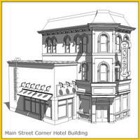 empire corner hotel construction 3d model