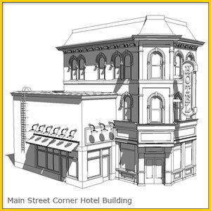 empire corner hotel construction 3d model