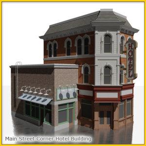3ds max empire corner hotel construction
