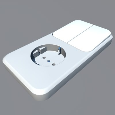 3d model switch power socket