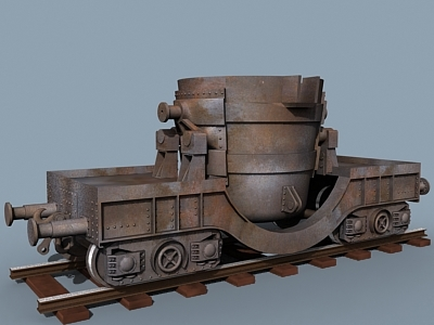 maya molten steel ladle car