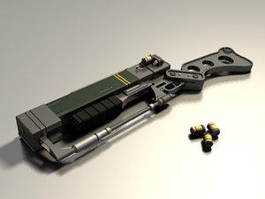 aer9 laser rifle 3d model