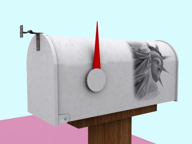 3d model usa mailbox