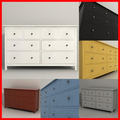 3d drawer commode cabinet model