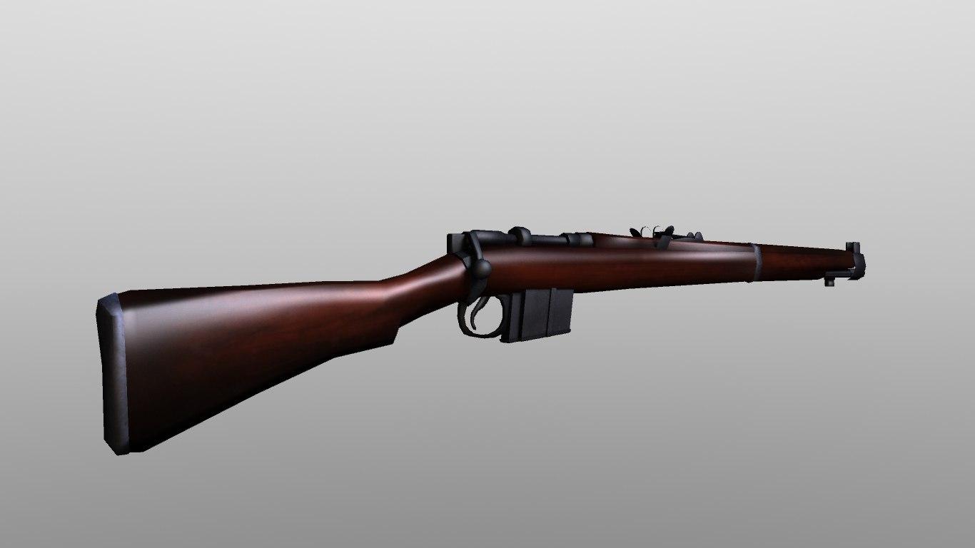 3d model 1897 lee-enfield rifle