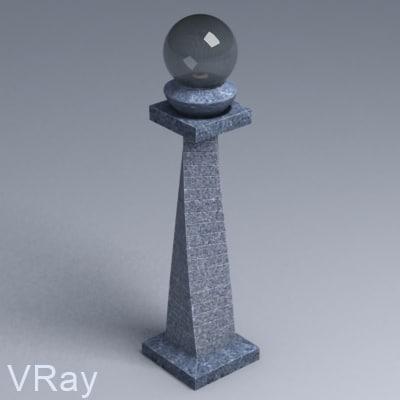 garden lamp 01 3d model