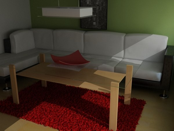 3ds max living scene sofa