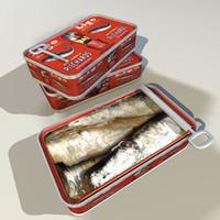 sardine cans 01 3d 3ds