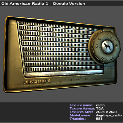 old radio american 3d model