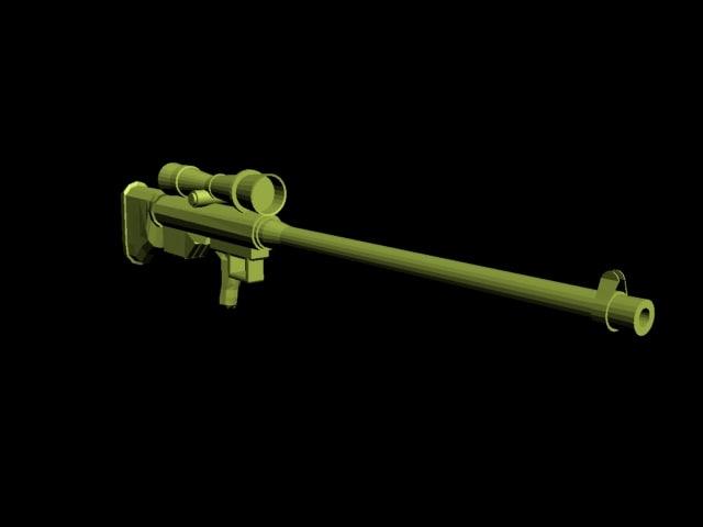 sniper s 3d model