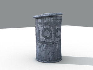 free trash bin 3d model
