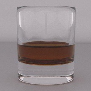 3d model tumbler whiskey