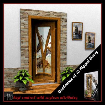 rigged doors 26 3d model