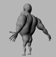 skin male character cartoon 3d model