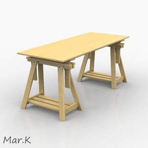 3d model work table
